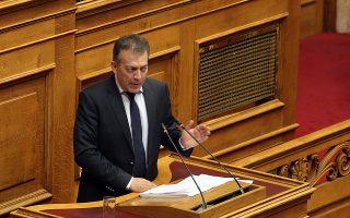 Ο κοινοβουλευτικός εκπρόσωπος της ΝΔ Γιάννης Βρούτσης μιλά, στη σημερινή  συζήτηση επίκαιρων ερωτήσεων στην Ολομέλεια της Βουλής, Παρασκευή 8 Ιουνίου 2018. ΑΠΕ-ΜΠΕ/ΑΠΕ-ΜΠΕ/Αλέξανδρος Μπελτές