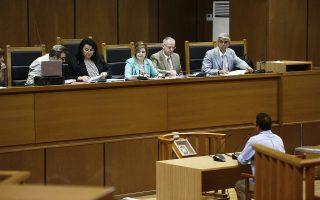 Ο κατηγορούμενος Λέων Τσαλίκης απολογείται στη δίκη της Χρυσής Αυγής, για την υπόθεση της δολοφονίας του Παύλου Φύσσα, στο Εφετείο στην Αθήνα, Τετάρτη 24 Ιουλίου 2019.   ΑΠΕ ΜΠΕ/ΑΠΕ ΜΠΕ/ΑΛΕΞΑΝΔΡΟΣ ΒΛΑΧΟΣ