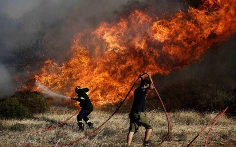 Δύο πύρινα μέτωπα στην Κρήτη – Φωτιές σε Ρέθυμνο και Ιεράπετρα