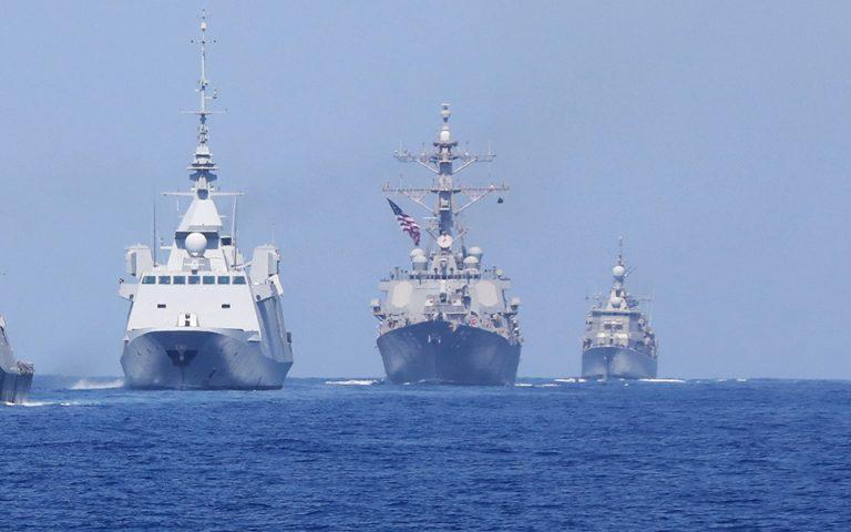 Κοινή ναυτική άσκηση για την αντιμετώπιση μεγάλου σεισμού στην Ανατολική Μεσόγειο