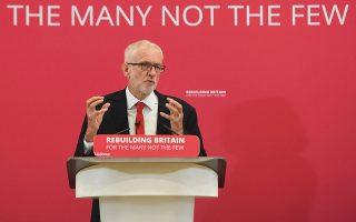 O Tζέρεμι Κόρμπιν δήλωσε ότι το Εργατικό Κόμμα θα δεσμευθεί για την πραγματοποίηση νέου δημοψηφίσματος. ASSOCIATED PRESS