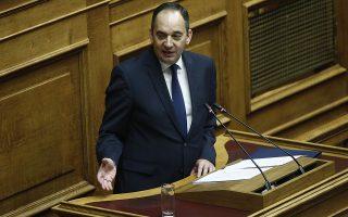 Ο βουλευτής της Νέας Δημοκρατίας, Ιωάννης Πλακιωτάκης, μιλάει από το βήμα της Βουλής στη συζήτηση επί της πρότασης δυσπιστίας της ΝΔ κατά της Κυβέρνησης, στην Ολομέλεια της Βουλής, Αθήνα, Σάββατο 16 Ιουνίου 2018. ΑΠΕ-ΜΠΕ/ ΑΠΕ-ΜΠΕ/ ΑΛΕΞΑΝΔΡΟΣ ΒΛΑΧΟΣ