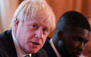 Ο Βρετανός πρωθυπουργός Μπόρις Τζόνσον σε χθεσινή σύσκεψη στο Λονδίνο με θέμα την αντιμετώπιση της εγκληματικότητας.