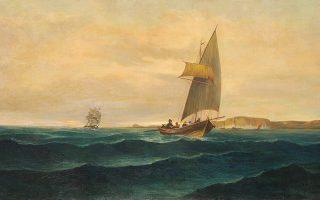 Εργο από την έκθεση–αφιέρωμα στον μεγάλο θαλασσογράφο Κωνσταντίνο Βολανάκη.