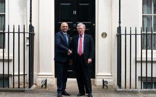 Ο Βρετανός υπουργός Οικονομικών Σατζίντ Τζαβίντ συναντήθηκε, χθες, με τον Τζον Μπόλτον.