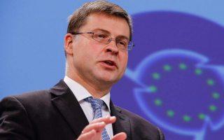 Οι μεταρρυθμίσεις έθεσαν τις βάσεις για την οικονομική ανάκαμψη, αναφέρει ο αντιπρόεδρος της Ευρωπαϊκής Επιτροπής Βάλντις Ντομπρόβσκις.