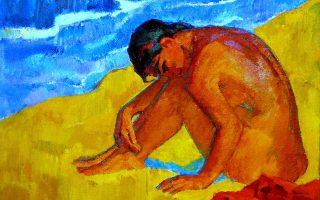 «Στη μαύρη θάλασσα» (1962), έργο του Ισραηλινού ζωγράφου Ααρών Απρίλ.