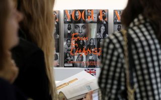 A copy of the September issue of British Vogue is displayed for sale in London, Britain August 2, 2019. REUTERS/Simon Dawson       NO RESALES. NO ARCHIVES.