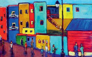 Το Μπουένος Αϊρες όπως το αποτύπωσε σε πίνακά του ο Αµερικανός εικαστικός καλλιτέχνης της ποπ αρτ Μπεν Γουίλ.