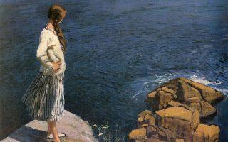 «Στην άκρη του γκρεμού», έργο της Βρετανίδας ζωγράφου Λόρα Νάιτ (1877-1970).