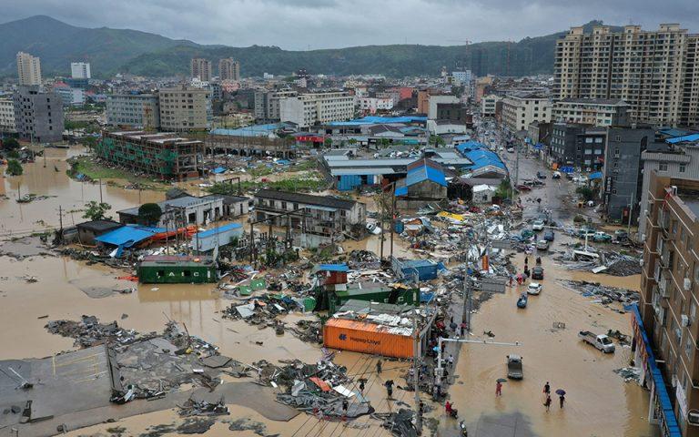 Κίνα: 28 οι νεκροί από τον τυφώνα Λέκιμα (φωτογραφίες)