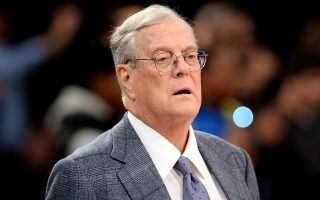 epa07787884 (FILE) - David H. Koch, then executive vice president and a board member of Koch Industries,. Inc., watches the New York Knicks playing the Miami Heat at Madison Square Garden in New York, New York, USA, 09 January 2013 (reissued 23 August 2019). Koch, who was one of the wealthiest people in the United States died 23 August 2019 aged 79, his spokeswoman Cristyne Nicholas confirmed.  EPA/JUSTIN LANE *** Local Caption *** 51167439