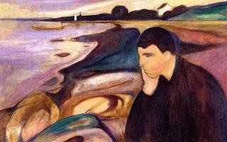Ενας άνδρας στη «φυλακή του εγώ του». Λεπτομέρεια από τον πίνακα «Μελαγχολία» του Εντβαρτ Μουνκ (1863-1944).
