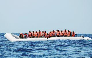 Ταχύπλοο μεταφέρει 80 μετανάστες από τη Λιβύη, εφοδιασμένους με σωσίβια από το σκάφος διάσωσης «Ocean Viking».