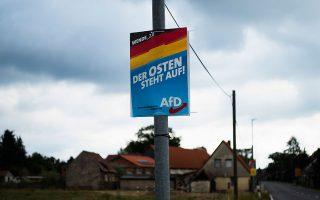 Πρόσφατη προεκλογική αφίσα της AfD στο κρατίδιο της Σαξονίας, όπου διεξάγονται τοπικές εκλογές την προσεχή Κυριακή.