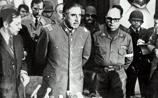 Ο στρατηγός Πινοσέτ, στην πρώτη του συνέντευξη Τύπου μετά το πραξικόπημα, διακηρύσσει την απόφασή του για «απελευθέρωση της πατρίδας από τον μαρξιστικό ζυγό και αποκατάσταση της τάξης και των θεσμών».