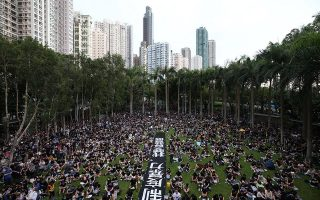 epa07755876 Anti-extradition bill protesters attend a rally in Western district, Hong Kong, China, 04 August 2019. Hong Kong is in the midst of a ninth consecutive weekend of multiple anti-extradition demonstrations and a planned citywide strike on 05 August.  EPA/JEROME FAVRE
