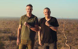 Ο ιδρυτής της SORAI, Kevin Pietersen, και ο διευθύνων σύμβουλος της Hublot, Ricardo Guadalupe στη Νότια Αφρική (φωτογραφία: Hublot)
