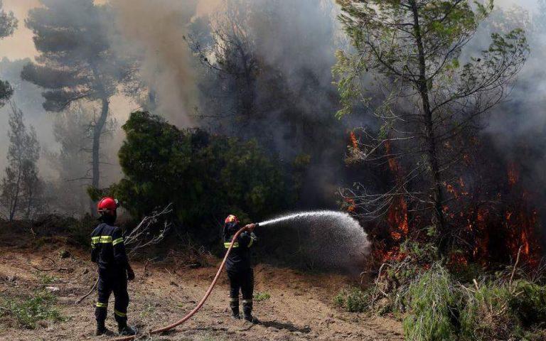 Σε ύφεση βρίσκεται η φωτιά στην Κέρκυρα