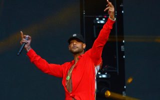 epa07783478 (FILE) - French rapper Booba performs during Les Vieilles Charrues Festival in Carhaix, France, 18 July 2019. According to reports, during the filming of his new music video 'Glaive' in near Paris, dozens of men arrived firing guns, resulting in several injured people.  EPA/HUGO MARIE *** Local Caption *** 55347730