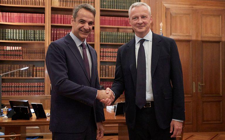 Οι διμερείς σχέσεις Ελλάδας – Γαλλίας στο επίκεντρο της συνάντησης Μητσοτάκη – Λεμέρ