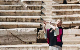 Μία ωραία παράσταση δόθηκε στο Αρχαίο Θέατρο Λάρισας.