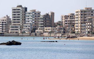 Αποκλειστική φωτογραφία που δόθηκε σήμερα στη δημοσιότητα και εικονίζει άποψη του παραλιακού μετώπου της περίκλειστης πόλης της Αμμοχώστου από τη θάλασσα για πρώτη φορά μετά από 45 χρόνια. Παρασκευή 30 Αυγούστου 2019. ΑΠΕ- ΜΠΕ/ ΚΥΠΕ/ΚΑΤΙΑ ΧΡΙΣΤΟΔΟΥΛΟΥ