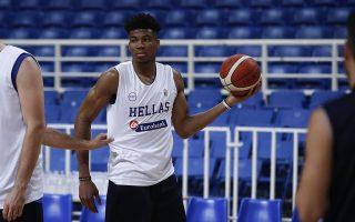 Ο μπασκετμπολίστας της εθνικής και MVP παίκτης στο ΝΒΑ για το 2019, Γιάννης Αντετοκούνμπο, παίρνει μέρος στην προπόνηση της εθνικής ομάδας ανδρών μπάσκετ, στο Ολυμπιακό στάδιο στο Μαρούσι, Αθήνα, Παρασκευή 2 Αυγούστου 2019. ΑΠΕ-ΜΠΕ/ΑΠΕ-ΜΠΕ/ΓΙΑΝΝΗΣ ΚΟΛΕΣΙΔΗΣ