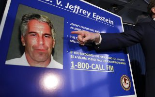 epa07766214 (FILE) - United States Attorney for the Southern District of New York Geoffrey Berman (R) points as he speaks during a news conference about the arrest of American financier Jeffrey Epstein in New York, USA, 08 July 2019 (reissued 10 August 2019). US media reported that Epstein was found dead in his prison cell on 10 August 2019 morning in the MCC Manhattan while awaiting trial on sex trafficking charges. An official confirmation by authorities of his death is pending.  EPA/JASON SZENES