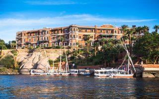 To ξενοδοχείο «Old Cataract» στο Ασουάν της Αιγύπτου, στο οποίο η Αγκάθα Κρίστι εμπνεύστηκε και έγραψε το «Εγκλημα στον Νείλο». SHUTTERSTOCK