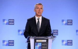 Μιλώντας χθες στην έδρα του ΝΑΤΟ, στις Βρυξέλλες, ο γενικός γραμματέας του ΝΑΤΟ, Γενς Στόλτενμπεργκ, απέρριψε τη ρωσική πρόταση για μορατόριουμ, χαρακτηρίζοντάς την αναξιόπιστη.