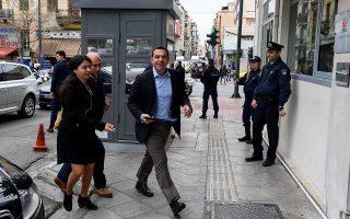 Ο τέως πρωθυπουργός Αλέξης Τσίπρας εισέρχεται στη χθεσινή πρώτη συνεδρίαση της Πολιτικής Γραμματείας του ΣΥΡΙΖΑ.