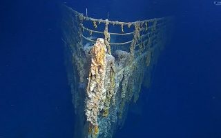 In this image taken from video released by Atlantic Productions, part of the wreckage of the RMS Titanic that lays about 3,800 metres below the surface of North Atlantic Ocean around 370 miles (596km) south of Newfoundland in Canada, during a recent visit, the first for over 14-years to record the wreck.  Scientists have warned that the wreckage of the Titanic, which sank in 1912 killing more 1,500 people, is deteriorating rapidly, noting salt corrosion, metal-eating bacteria and deep current action all having profound impact. The Atlantic Productions crew used the expedition to assess the wreck's current condition and make visuals of the wreck using augmented reality and virtual reality technology. (Atlantic Productions via AP) MANDATORY CREDIT : ATLANTIC PRODUCTIONS