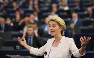 Η Ούρσουλα φον ντερ Λάιεν, η οποία αναλαμβάνει την προεδρία της Κομισιόν από τις αρχές Νοεμβρίου, δήλωσε πως οι Βρυξέλλες «θα αξιοποιήσουν στο μέγιστο την όποια ευελιξία κινήσεων επιτρέπουν οι κανόνες» για να ενισχύσουν την ανάπτυξη και τις επενδύσεις.