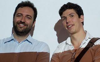 Ο Δημήτρης Κουκουλόπουλος (αριστερά) μαζί με τον συνεργάτη του James Maynard απέδειξαν την Εικασία των
