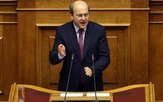 Ο αντιπρόεδρος της ΝΔ  Κωστής Χατζηδάκης μιλάει στη συζήτηση στην Ολομέλεια της Βουλής επί της παροχής ψήφου εμπιστοσύνης στην Κυβέρνηση, Αθήνα Τρίτη 15 Ιανουαρίου 2019. Η συζήτηση θα ολοκληρωθεί με ονομαστική ψηφοφορία το βράδυ της Τετάρτης.  ΑΠΕ-ΜΠΕ/ΑΠΕ-ΜΠΕ/ΟΡΕΣΤΗΣ ΠΑΝΑΓΙΩΤΟΥ