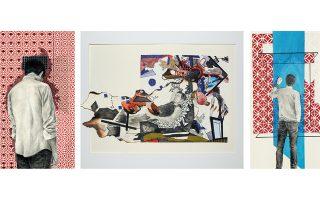 Τρία έργα του Παναγιώτη Παπαδόπουλου από τη νέα ατομική έκθεση που εγκαινιάζεται αύριο Πέμπτη 5 Σεπτεμβρίου στην γκαλερί Cube της Πάτρας.