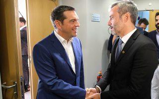 Ο πρόεδρος του ΣΥΡΙΖΑ Αλέξης Τσίπρας συναντήθηκε χθες με τον δήμαρχο Θεσσαλονίκης Κωνσταντίνο Ζέρβα.