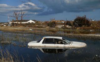 Εικόνα από τις Μπαχάμες, που ακόμη μετρούν τις πληγές τους από το πέρασμα του κυκλώνα.