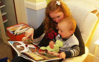 Η Χέδερ Φλετ με τον 18 μηνών γιο της, Μάιλο, στο Μπέρκλεϊ της Καλιφόρνιας.