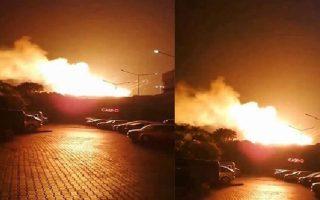 Η έκρηξη σημειώθηκε στον Άγιο Επίκτητο στην Κερύνεια. (φωτογραφία: ΚΑΘΗΜΕΡΙΝΗ ΚΥΠΡΟΥ)