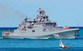 Η φρεγάτα «Ναύαρχος Μακάροβ» είναι σε υπηρεσία από το 2017 και αποτελεί ένα από τα πλέον σύγχρονα πολεμικά πλοία του ρωσικού ναυτικού.