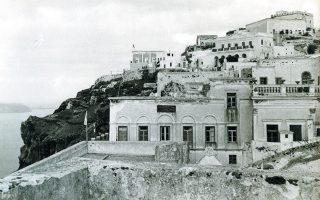 Τα Φηρά μετά τον καταστροφικό σεισμό του 1956.