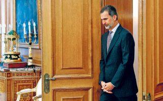 Ο βασιλιάς Φίλιππος ΣΤ΄ καταφθάνει για ακρόαση, στο πλαίσιο των διαβουλεύσεων για τον σχηματισμό κυβέρνησης.