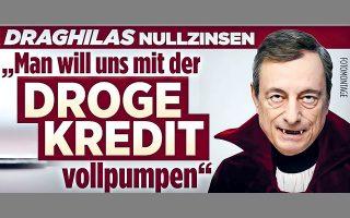 Στη Γερμανία, η λαϊκιστική εφημερίδα Bild κυκλοφόρησε χθες με τίτλο «Ο κόμης Δράκουλας ρουφάει τις καταθέσεις μας».