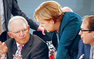 Τον κανόνα για το «φρένο χρέους», που προβλέπει πως η ομοσπονδιακή κυβέρνηση μπορεί να παρουσιάσει διαρθρωτικό έλλειμμα μέχρι 0,35% του ΑΕΠ και είναι συνυφασμένος με το πρόσωπο του πρώην υπουργού Οικονομικών, Βόλφγκανγκ Σόιμπλε, ακολουθεί ακόμη πιστά η καγκελάριος Αγκελα Μέρκελ.