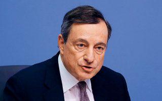 Tο νέο ισχυρό πακέτο μέτρων από την ΕΚΤ για τη στήριξη της οικονομίας και την τόνωση του πληθωρισμού συνέβαλε θετικά στη διάθεση των επενδυτών για ανάληψη ρίσκου. Οπως τόνισε ο πρόεδρος της ΕΚΤ Μάριο Ντράγκι (φωτ.), η Κεντρική Τράπεζα της Ευρωζώνης θα κάνει ό,τι χρειαστεί ώστε ο πληθωρισμός να πλησιάσει τον στόχο του 2%.