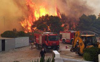 Φωτιά και δέντρα στην Ζάκυνθο, Κυριακή 15 Σεπτεμβρίου 2019. Εκτός ελέγχου μαίνεται η πυρκαγιά που κατακαίει από το πρωί δασική έκταση στα χωριά Αγαλάς και Κερί. ΑΠΕ-ΜΠΕ/ΑΠΕ-ΜΠΕ/Κώστας Συνετός