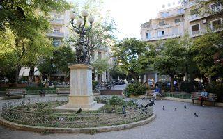 Η πλατεία Αγίου Γεωργίου γοητεύει, με τις πολυκατοικίες να την αγκαλιάζουν κυκλικά. ΔΗΜΗΤΡΗΣ ΚΑΠΑΝΤΑΗΣ/INTIME NEWS