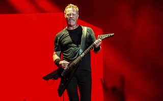 FILE - In this Oct. 13, 2018 file photo, James Hetfield of Metallica performs on day two of the Austin City Limits Music Festival's second weekend in Austin, Texas. Metallica says its frontman Hetfield has entered rehab, and the band is canceling its upcoming tour in Australia and New Zealand. Three of the heavy metal band's members, drummer Lars Ulrich, guitarist Kirk Hammett and bassist Rob Trujillo, posted a statement Friday, Sept. 27, 2019, on Twitter announcing the decision and apologizing to fans. (Photo by Amy Harris/Invision/AP, File)